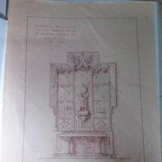 Antigüedades: MONTESINOS , PROYECTO DE ALTAR. 1953. Lote 141507918