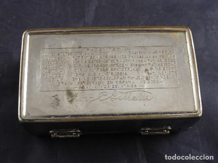 Antigüedades: MAQUINILLA GILLETTE COMPLETA ANTIGUA EN SU ESTUCHE - Foto 3 - 143381190