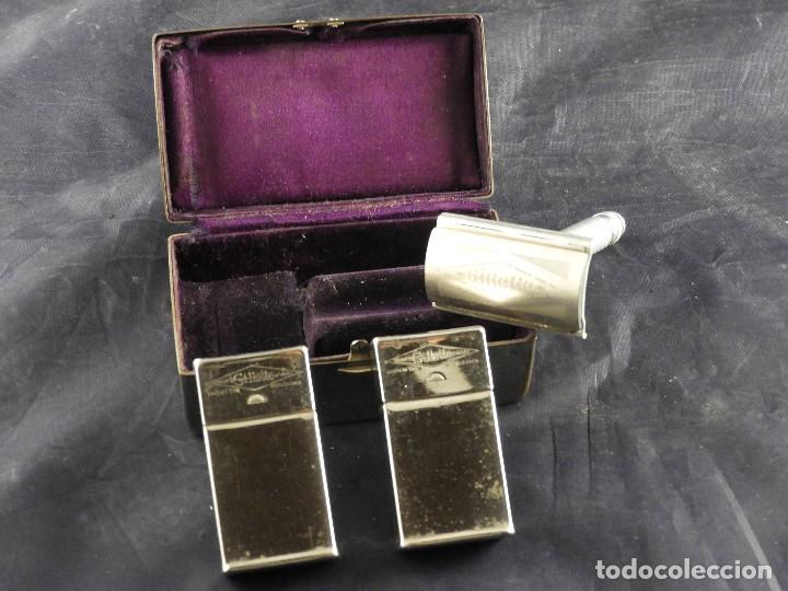 Antigüedades: MAQUINILLA GILLETTE COMPLETA ANTIGUA EN SU ESTUCHE - Foto 5 - 143381190