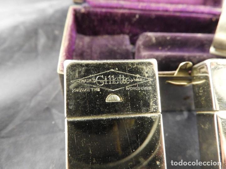 Antigüedades: MAQUINILLA GILLETTE COMPLETA ANTIGUA EN SU ESTUCHE - Foto 7 - 143381190