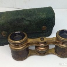 Antigüedades: ANTIGUOS BINOCULARES PARA OPERA EN SU ESTUCHE ORIGINAL. Lote 141677930