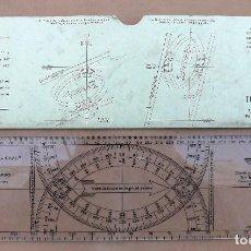 Antigüedades: REGLA ADMIRAL JEAN CRAS PLOTTER - AVIACIÓN, MARINA, TOPOPLASTIC MADE IN FRANCE. Lote 141735230