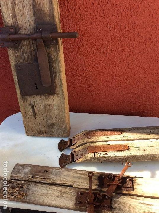 Antigüedades: Cerradura con cerrojo - Foto 2 - 116192311