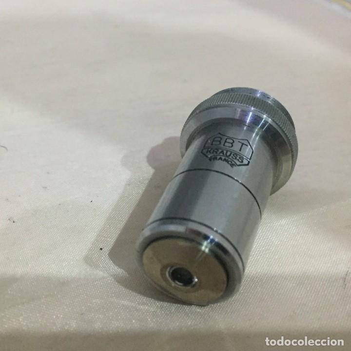 Antigüedades: Objetivo microscopio BBT KRAUS 35X ONO. 75 - Foto 2 - 142037358