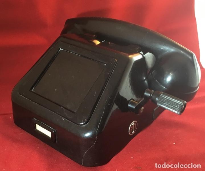 Teléfonos: Teléfono antiguo negro PTT Ericsson con magneto - Foto 4 - 112310847