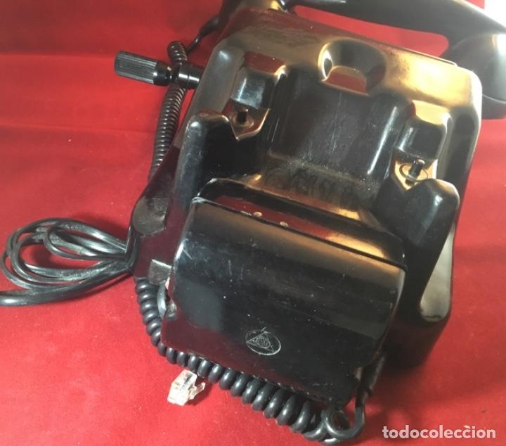 Teléfonos: Teléfono antiguo negro PTT Ericsson con magneto - Foto 5 - 112310847