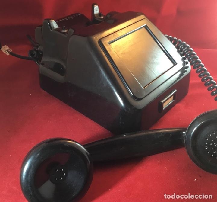 Teléfonos: Teléfono antiguo negro PTT Ericsson con magneto - Foto 7 - 112310847