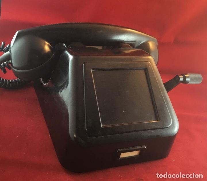 TELÉFONO ANTIGUO NEGRO PTT ERICSSON CON MAGNETO (Antigüedades - Técnicas - Teléfonos Antiguos)