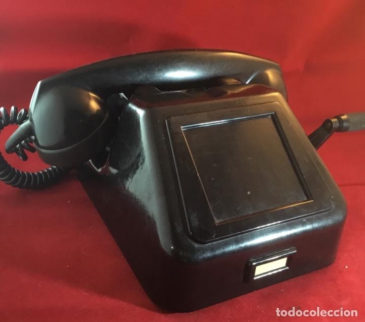 Teléfonos: Teléfono antiguo negro PTT Ericsson con magneto - Foto 3 - 112310847