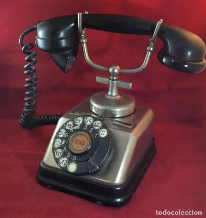 Teléfonos: Antiguo teléfono danés KTAS D-30 - Kjøbenhavns Telefon Aktieselskab - Foto 3 - 142162430