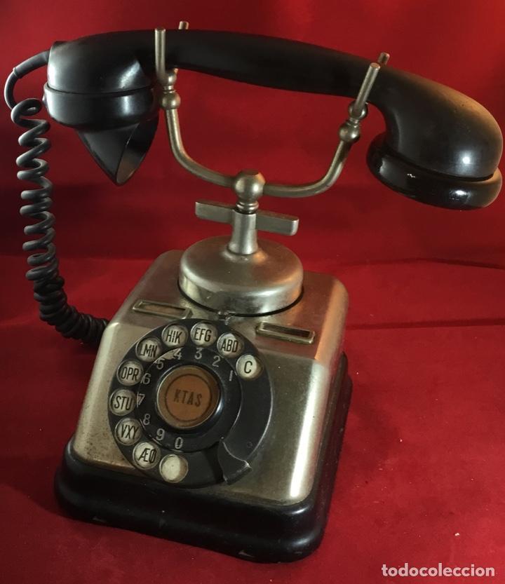 Teléfonos: Antiguo teléfono danés KTAS D-30 - Kjøbenhavns Telefon Aktieselskab - Foto 10 - 142162430