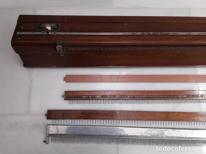 Antigüedades: antigua tricotosa de lana marca LANOFIX MODELO INDUSTRIAL PATENTADO DOBLE MANIVELA Nº 405 - Foto 25 - 142327170