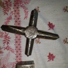 Antigüedades: RANGUA HOVO, SAPO, PEÓN PEONERA, AGUILLÓN ,PORCA ,BUXA ,CRUZ D BRONCE D MOLINO HARINERO HIDRAULICO. Lote 142476394