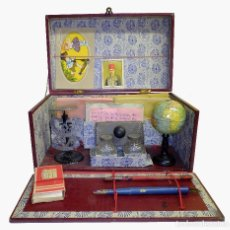 Antigüedades: 1900/1920 BONITO PLUMIER ESCOLAR / TROUSSE SCOLAIRE CON GLOBO TERRÁQUEO ATLAS LNK. Lote 142517998