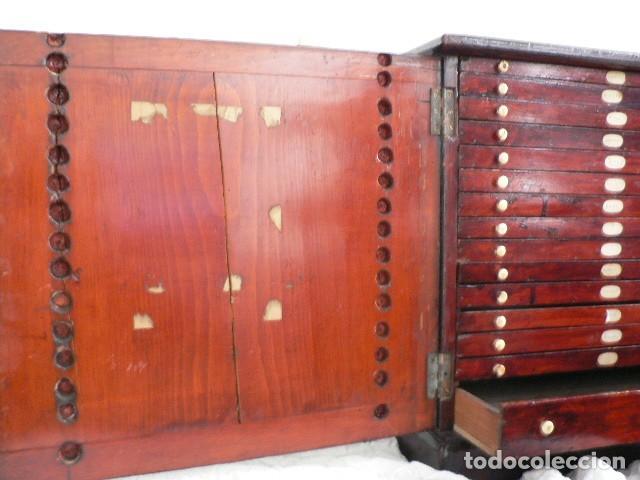 Antigüedades: MICROSCOPIO, CABINET PARA PREPARACIONES MICROSCÓPICAS c. 1880 - Foto 7 - 142601034