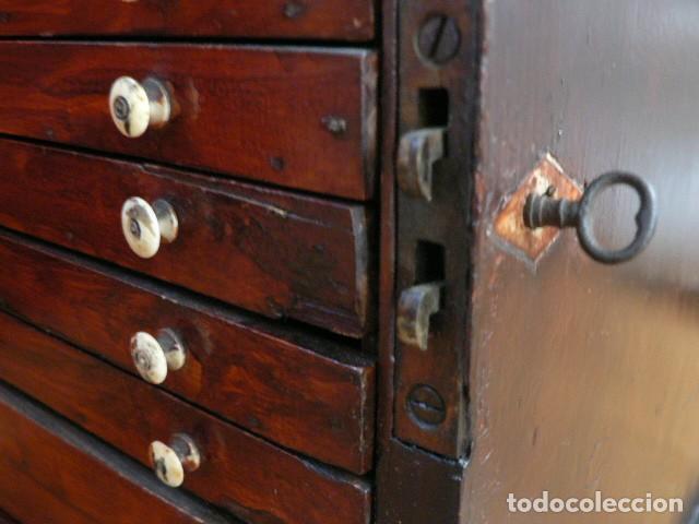 Antigüedades: MICROSCOPIO, CABINET PARA PREPARACIONES MICROSCÓPICAS c. 1880 - Foto 27 - 142601034