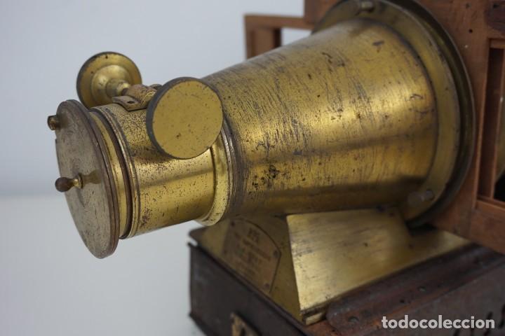 Antigüedades: ANTiGUA LINTERNA MÁGICA firmada E.G WOOD 'THE EUPHANERON' c. 1861-1898 - Foto 4 - 142602970