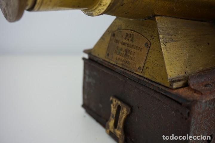 Antigüedades: ANTiGUA LINTERNA MÁGICA firmada E.G WOOD 'THE EUPHANERON' c. 1861-1898 - Foto 6 - 142602970