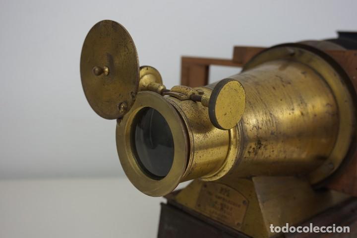 Antigüedades: ANTiGUA LINTERNA MÁGICA firmada E.G WOOD 'THE EUPHANERON' c. 1861-1898 - Foto 7 - 142602970