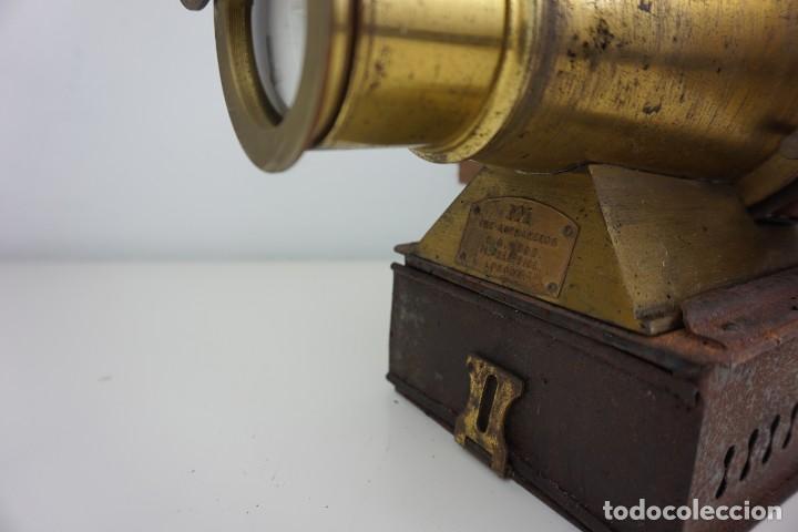 Antigüedades: ANTiGUA LINTERNA MÁGICA firmada E.G WOOD 'THE EUPHANERON' c. 1861-1898 - Foto 8 - 142602970