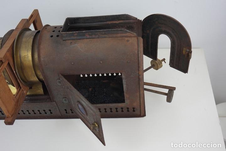 Antigüedades: ANTiGUA LINTERNA MÁGICA firmada E.G WOOD 'THE EUPHANERON' c. 1861-1898 - Foto 9 - 142602970