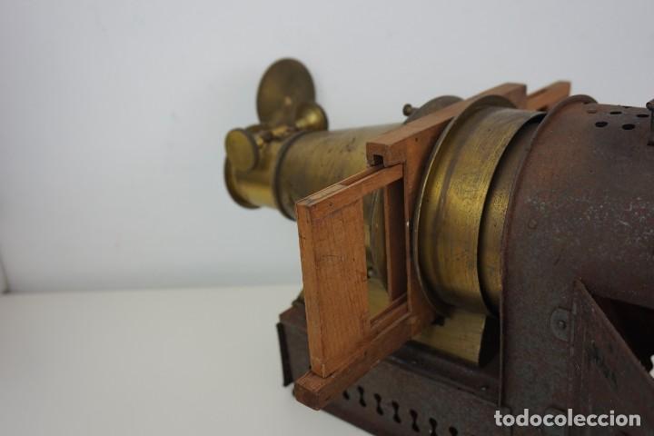 Antigüedades: ANTiGUA LINTERNA MÁGICA firmada E.G WOOD 'THE EUPHANERON' c. 1861-1898 - Foto 12 - 142602970
