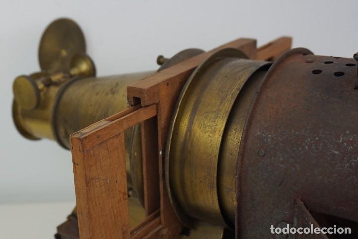 Antigüedades: ANTiGUA LINTERNA MÁGICA firmada E.G WOOD 'THE EUPHANERON' c. 1861-1898 - Foto 13 - 142602970