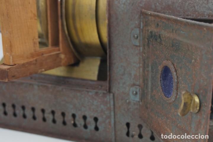Antigüedades: ANTiGUA LINTERNA MÁGICA firmada E.G WOOD 'THE EUPHANERON' c. 1861-1898 - Foto 15 - 142602970