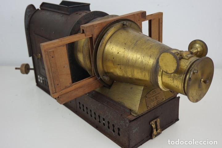 Antigüedades: ANTiGUA LINTERNA MÁGICA firmada E.G WOOD 'THE EUPHANERON' c. 1861-1898 - Foto 20 - 142602970