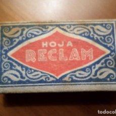 Antigüedades: HOJAS DE AFEITAR MARCA RECLAM. Lote 142605986