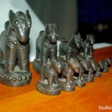 Antigüedades: TAILANDIA - BIRMANIA - JUEGO DE PONDERALES-PESAS SIGLO XVIII. Lote 142657338