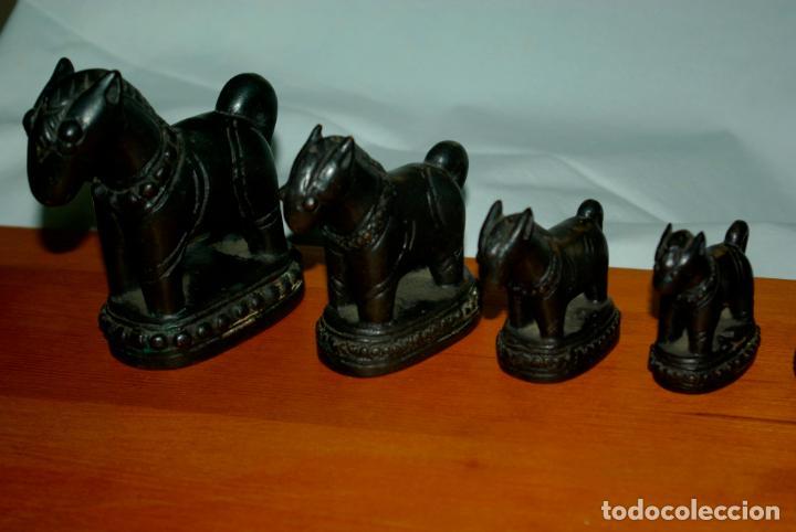 Antigüedades: TAILANDIA - BIRMANIA - JUEGO DE PONDERALES-PESAS SIGLO XVIII - Foto 5 - 142657338