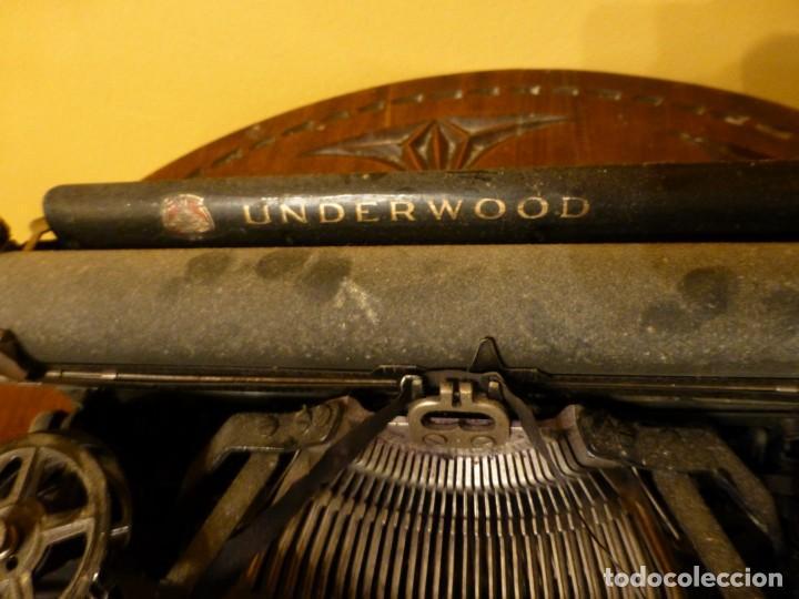 Antigüedades: Máquina de escribir portatil antigua Underwood completa. 1915 - Foto 3 - 142664314