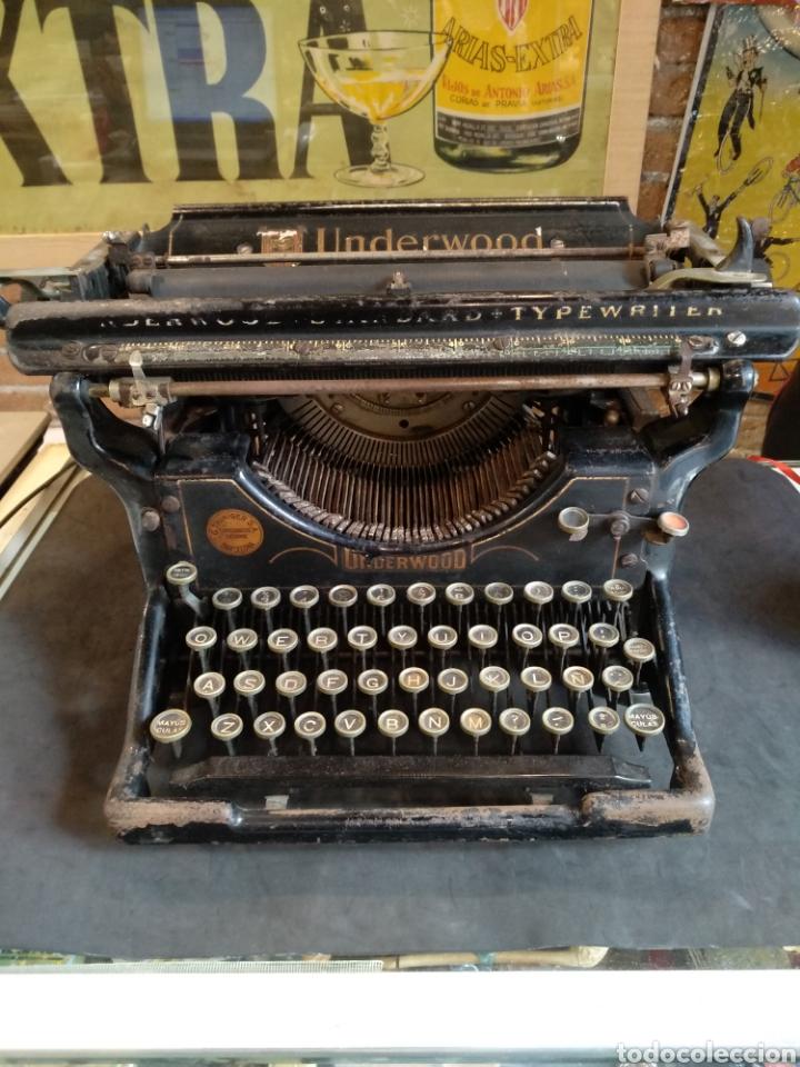 MAQUINA DE ESCRIBIR UNDERWOOD. FUNCIONA (Antigüedades - Técnicas - Máquinas de Escribir Antiguas - Underwood)
