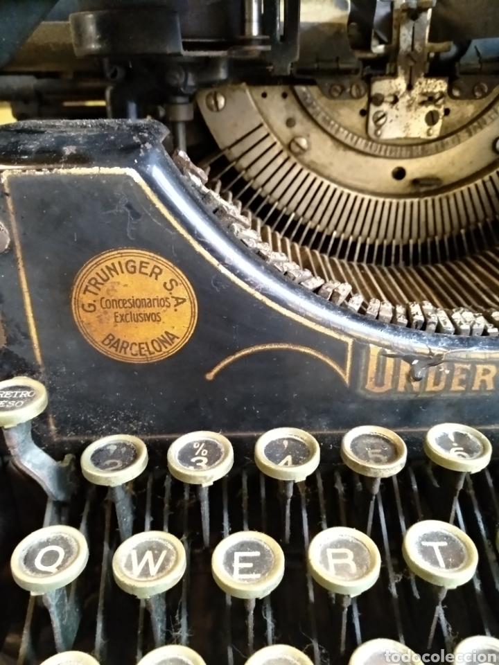 Antigüedades: Maquina de escribir Underwood. Funciona - Foto 7 - 142673692