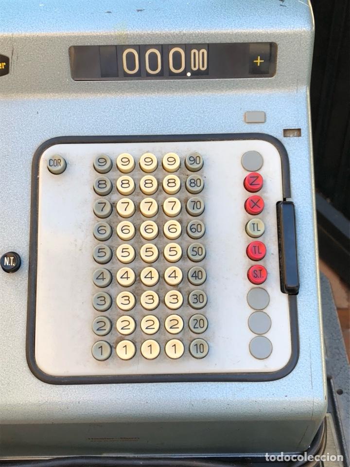 Antigüedades: Caja registradora marca hasler con su soporte incluido - Foto 2 - 142680729