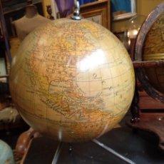 Antigüedades: ANTIGUO GLOBO TERRESTRE ,GRANDE EN ESCAYOLA , ORIGINAL AÑOS 30. Lote 126978595
