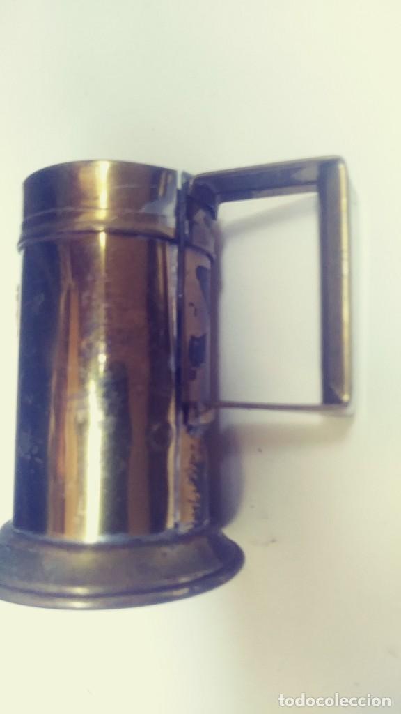 Antigüedades: medidor de liquidos de laton o cobre 1/8 - Foto 4 - 142750194