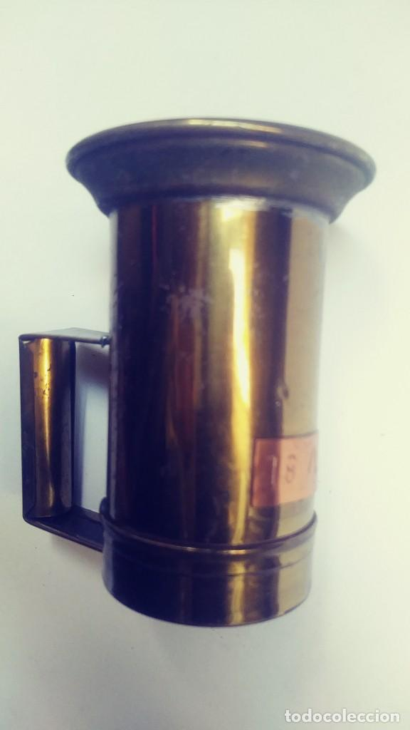 Antigüedades: medidor de liquidos de laton o cobre 1/8 - Foto 7 - 142750194