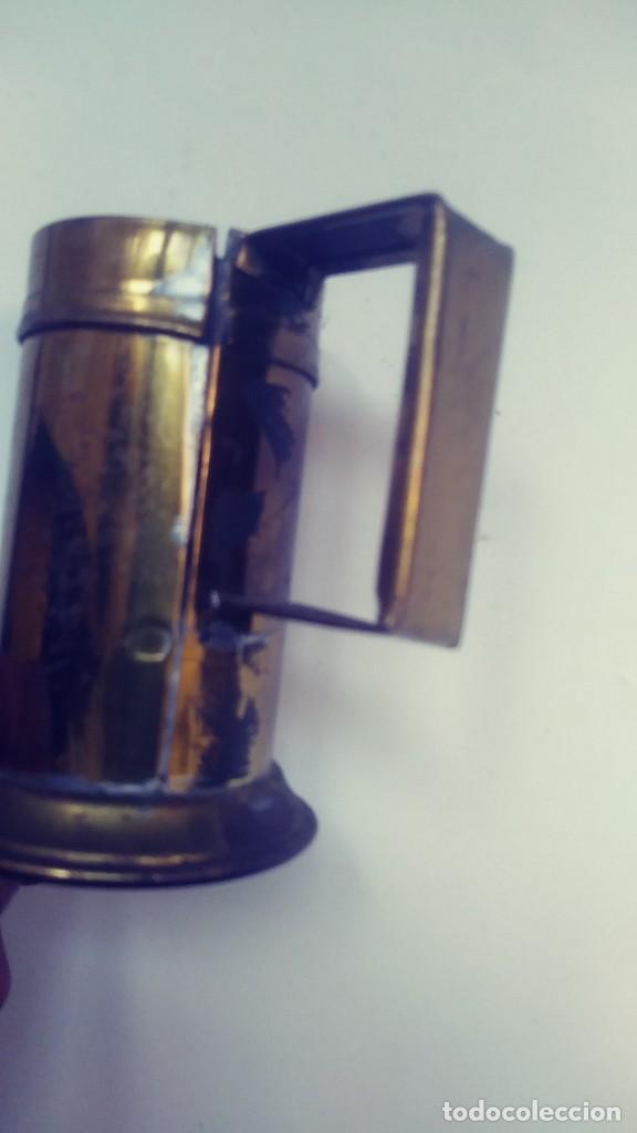 Antigüedades: medidor de liquidos de laton o cobre 1/8 - Foto 10 - 142750194