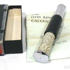 Antigüedades: ANTIGUA CALCULADORA CILÍNDRICA OTIS KING´S POCKET CALCULATOR MODEL K Nº A9562. Lote 142815414