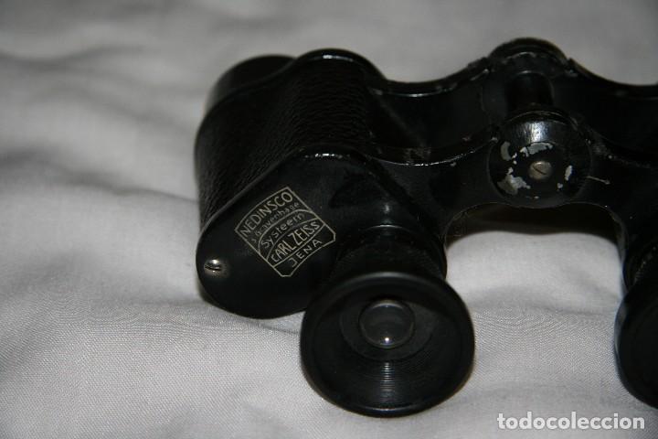 Antigüedades: prismaticos carl zeiss jena nedinsco - Foto 3 - 142832022