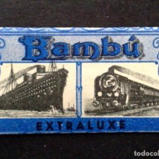 Antigüedades: HOJA DE AFEITAR ANTIGUA-BAMBU EXTRALUXE-J.VOLLMER (DESCRIPCIÓN). Lote 89282484