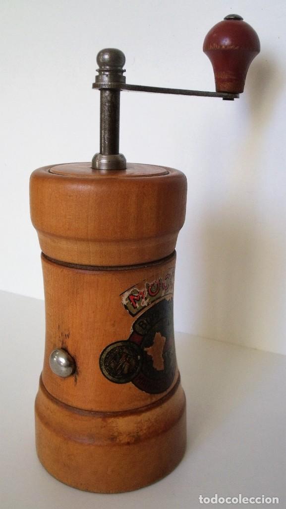 Antigüedades: MOLINILLO DE CAFÉ CILÍNDRICO MARCA BURGMÜHLE. ALEMANIA. CA. 1950/60 - Foto 9 - 142888346