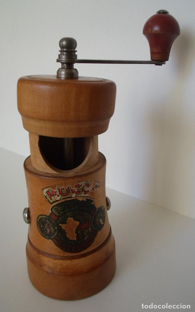 Antigüedades: MOLINILLO DE CAFÉ CILÍNDRICO MARCA BURGMÜHLE. ALEMANIA. CA. 1950/60 - Foto 11 - 142888346