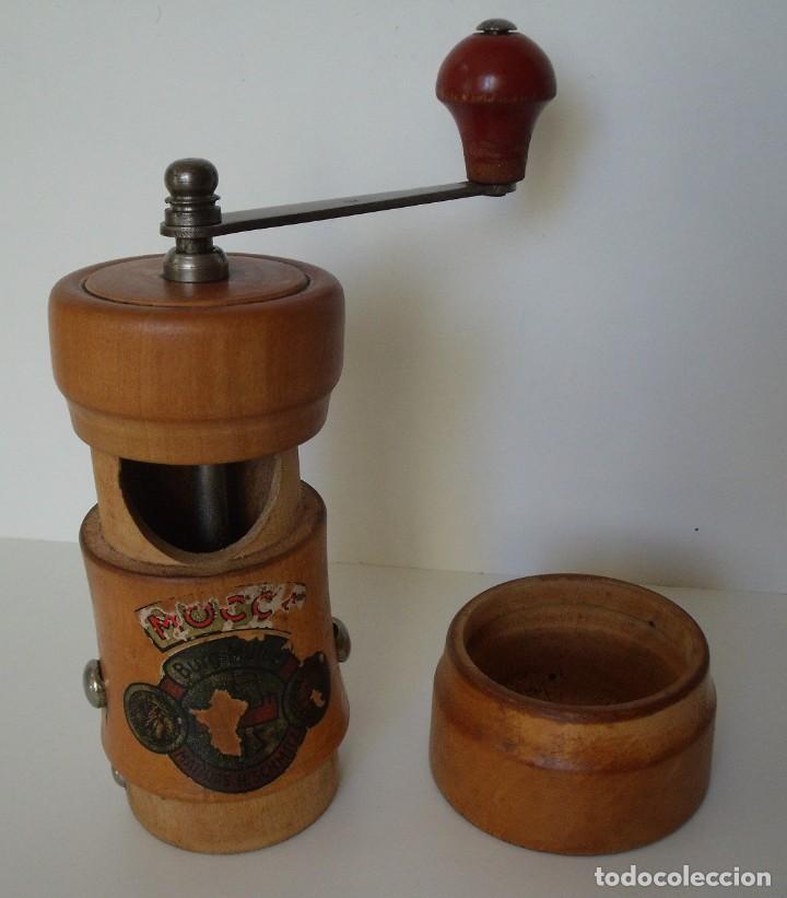 Antigüedades: MOLINILLO DE CAFÉ CILÍNDRICO MARCA BURGMÜHLE. ALEMANIA. CA. 1950/60 - Foto 12 - 142888346