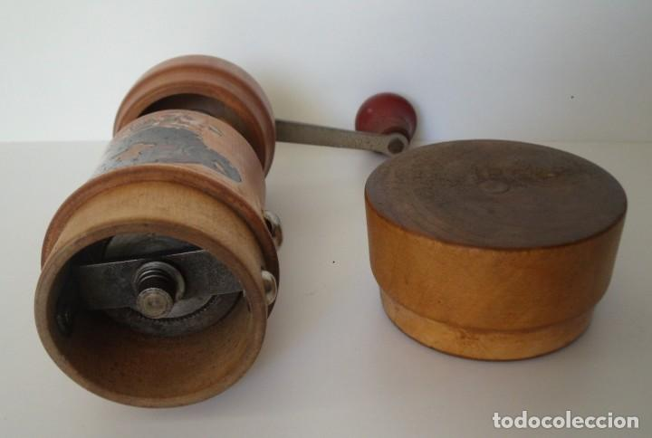 Antigüedades: MOLINILLO DE CAFÉ CILÍNDRICO MARCA BURGMÜHLE. ALEMANIA. CA. 1950/60 - Foto 13 - 142888346
