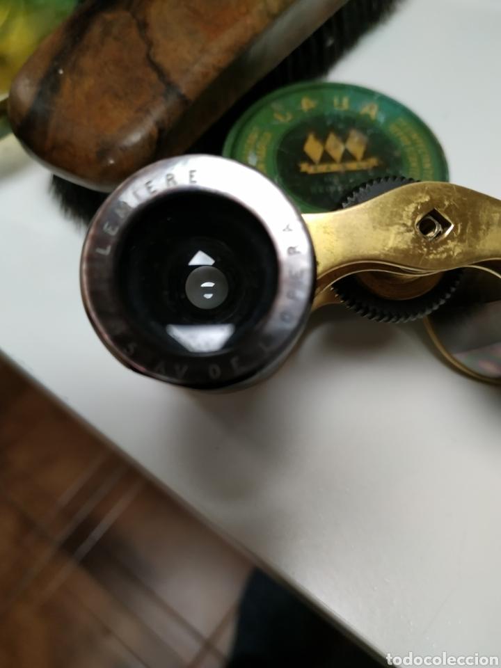 Antigüedades: Anteojos Lemiere 5 AV de lopera antiguo en laton y nacar - Foto 4 - 142907784