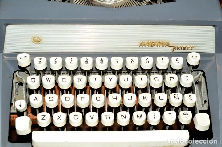 MÁQUINA DE ESCRIBIR ANDINA KRISTY (Antigüedades - Técnicas - Máquinas de Escribir Antiguas - Otras)