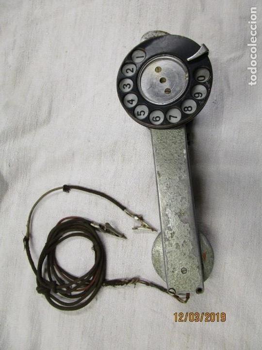 TELEFONO DE OPERARIO TECTICO, COMPROBACION LINEAS - HACIA 1960, ALUMINIO 670GR + INFO FOTOS 1S (Antigüedades - Técnicas - Teléfonos Antiguos)
